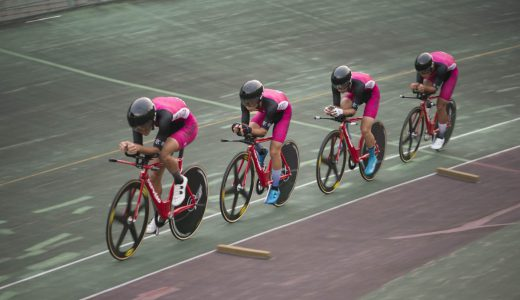 全国大会(高校)決勝進出。自転車ポイントレース